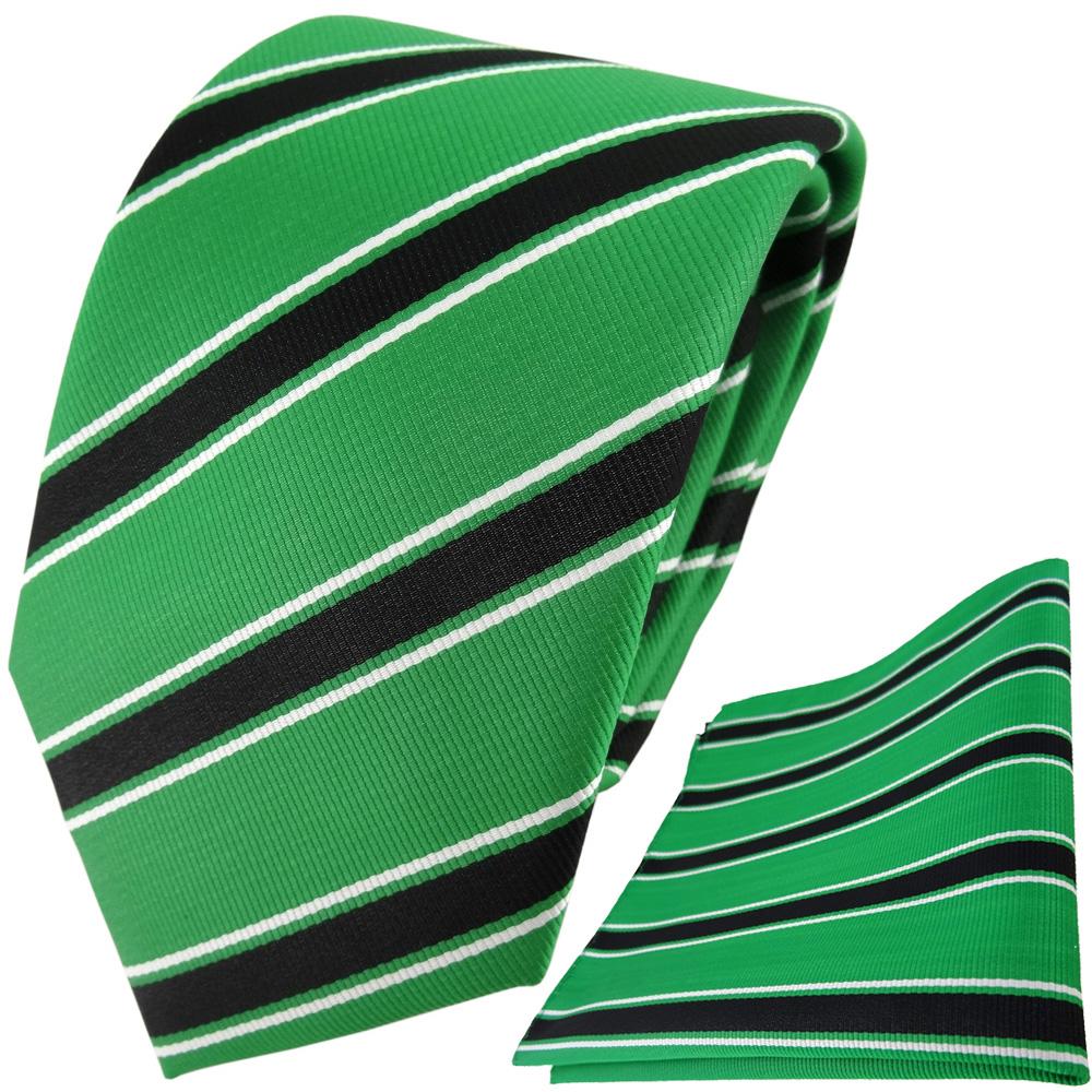 grün signalgrün schwarz weiss gestreift schmale TigerTie Designer Krawatte