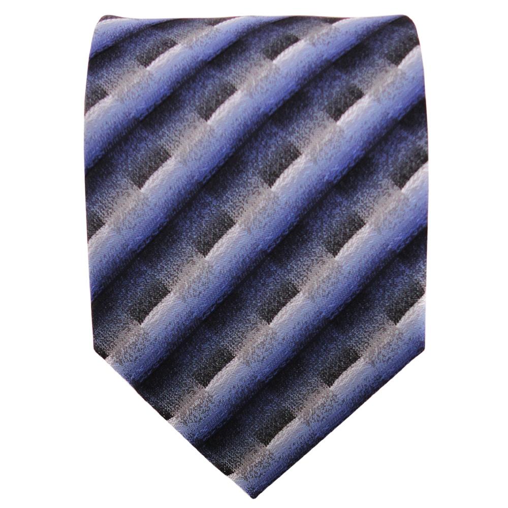 Schöne Krawatte In Dunkelblau Grau Silber Anthrazit