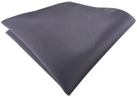 TigerTie Einstecktuch anthrazit grau dunkelgrau einfarbig Uni - Größe 26 x 26 cm
