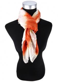 Halstuch in orange weiss gestreift - Schal 100% Baumwolle -Tuch Gr. 100 x 100 cm