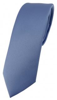 schmale TigerTie Designer Krawatte in pastellblau einfarbig Uni - Tie Schlips