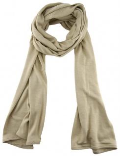 TigerTie - Schal in beige einfarbig Uni - Größe 180 x 30 cm - 100% Viscose