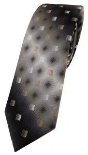 schmale TigerTie Seidenkrawatte gold beige anthrazit grau silber schwarz - Tie