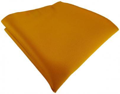 TigerTie Satin Einstecktuch in gelborange einfarbig Uni - Größe 26 x 26 cm