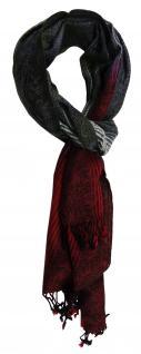 TigerTie Designer Schal rot grün anthrazit Paisley gemustert - Gr. 180 x 50 cm