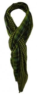 TigerTie Schal in grün türkis schwarz silber gemustert