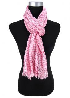 Damen Halstuch rosa pink Blumenmuster Gr. 180 cm x 50 cm - Tuch Schal Baumwolle