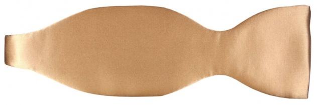 TigerTie Selbstbinder Seidenfliege in gold Uni - Querbinder 100% Seide + Box