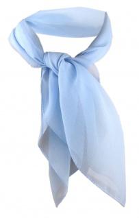 TigerTie Damen Chiffon Nickituch blau Gr. 50 cm x 50 cm - Tuch Halstuch Schal