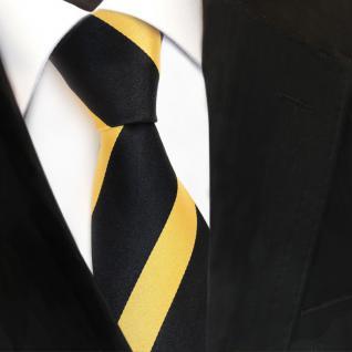 Designer Seidenkrawatte gold hellgold goldgelb schwarz gestreift- Krawatte Seide