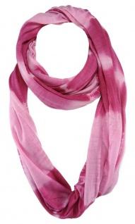 TigerTie Loop Schal in pink rosa - Gr. 180 cm x 60 cm - Schlauchschal Rundschal