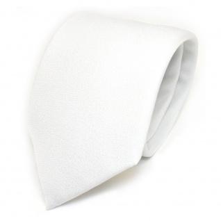 Designer Krawatte weiss Uni mit aufgerauhter Oberfläche - Schlips Binder Tie