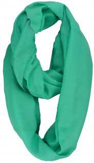 Loop Schal Halstuch in grün mint einfarbig - Größe 180 x 100 cm - Schlauchschal