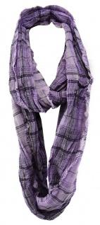 TigerTie Designer Loop Schal in lila flieder schwarz grau gemustert