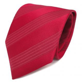 TigerTie Designer Seidenkrawatte rot karminrot gestreift - Krawatte Seide Silk