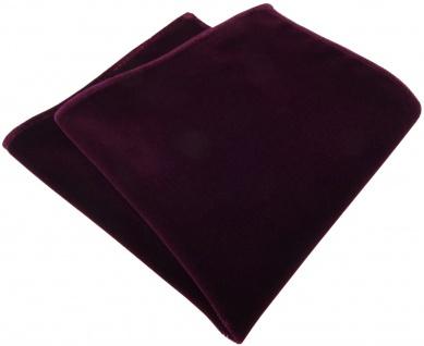 TigerTie Designer Baumwollsamt Einstecktuch in bordeaux Uni - 100% Baumwolle