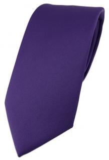 TigerTie Designer Krawatte in blaulila violett einfarbig Uni - Tie Schlips
