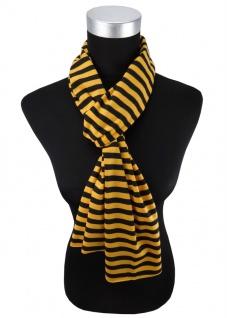 Damen Schal in gelb schwarz gestreift Gr. 172 cm x 27 cm - Halstuch Tuch