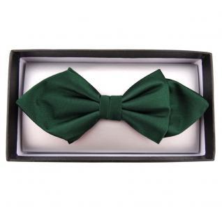 Schmale Satin Seidenfliege grün dunkelgrün Uni fein gerippt - Fliege Seide Silk - Vorschau 2
