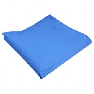 TigerTie Einstecktuch blau himmelblau hellblau Uni Rips einfarbig Tuch Polyester