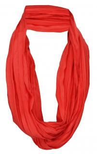 TigerTie Loop Schal in rot verkehrsrot einfarbig Uni - Schlauchschal Rundschal