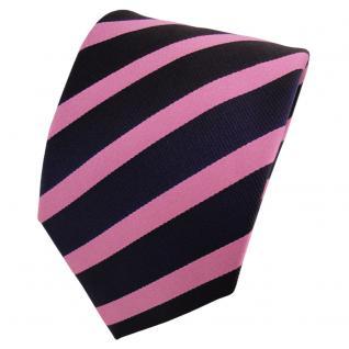 Designer Seidenkrawatte rosa blau dunkelblau gestreift - Krawatte Seide Tie