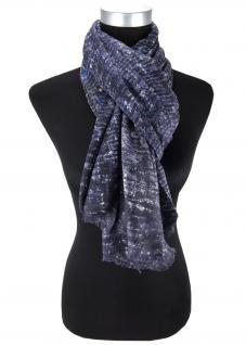 edler Schal in blau anthrazit grau schwarz gemustert - Tuchgröße in 180 x 100 cm