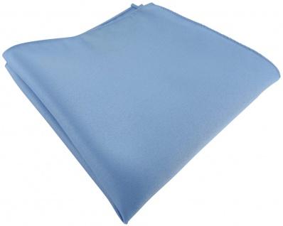 TigerTie Einstecktuch blau hellblau einfarbig Uni - Gr. 25 x 25 cm