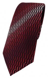 schmale TigerTie Designer Krawatte in rot weinrot schwarz silber grau gemustert