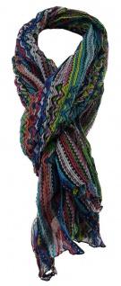 TigerTie Designer Schal in blau türkis gelb grün grau rosa rot gemustert