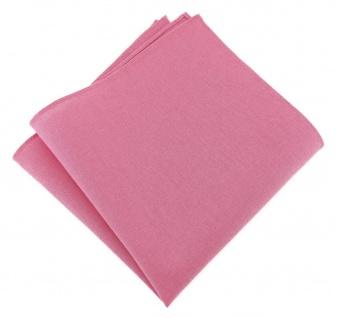 TigerTie Einstecktuch rosa pink uni - 100% Baumwolle - Einstecktuch 26 x 26 cm