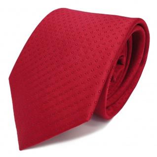 Elegante TigerTie Designer Seidenkrawatte rot gepunktet - Krawatte Seide Binder