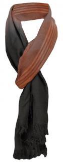 TigerTie Designer Schal rostbraun braun grau schwarz gemustert - Gr. 180 x 50 cm