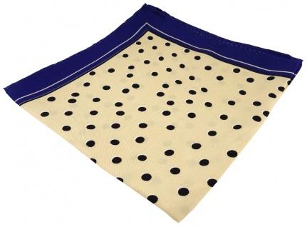 Seideneinstecktuch in beige violette schwarz gepunktet - Tuch 100% pure Seide