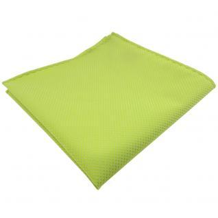 schönes Einstecktuch in helles gelbgrün uni-gemustert gestreift - Tuch Polyester
