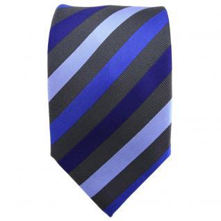 TigerTie Krawatte blau dunkelblau hellblau anthrazit gestreift - Tie Binder - Vorschau 2
