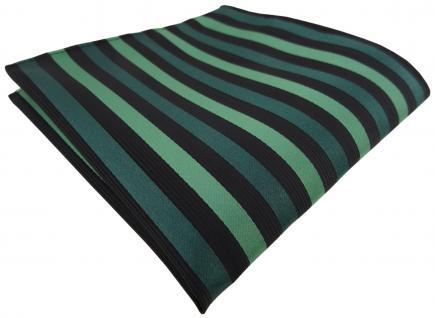 Einstecktuch grün dunkelgrün schwarz gestreift - Tuch Polyester - Gr. 25 x 25 cm