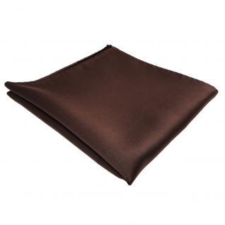 schönes TigerTie Einstecktuch braun dunkelbraun einfarbig - Tuch Polyester