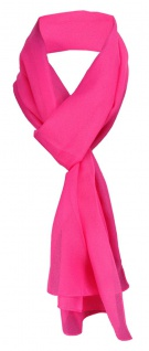 TigerTie Damen Chiffon Schal Halstuch in pink Uni - Gr. 160 cm x 36 cm