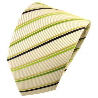 TigerTie Designer Krawatte grün gold beige schwarz gestreift - Tie Binder