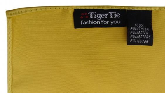 TigerTie - Kummerbund Einstecktuch Satin Fliege in gold - Schärpe Leibbinde - Vorschau 5