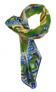 Halstuch grün anthrazit braun grau blau beige orange gemustert - Gr. 95 x 95 cm - Vorschau