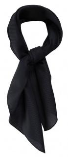 TigerTie Nickituch Kopftuch Halstuch Pique schwarz uni - Größe 70 x 70 cm