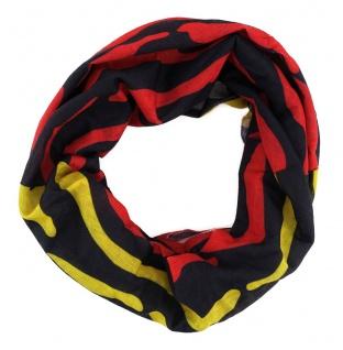 TigerTie Multifunktionstuch in rot gelb schwarz Tigermuster - Tuch Schal