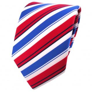 TigerTie Krawatte in rot blau weiß schwarz gestreift - Binder Tie
