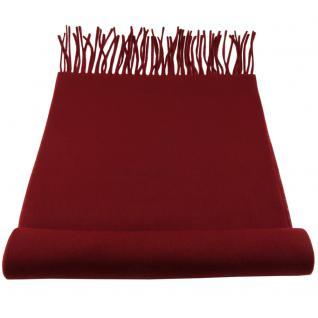 Feiner TigerTie Designer Schal in bordeaux rot weinrot Uni - Cashmink