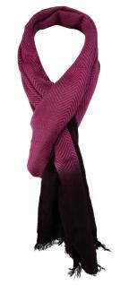 TigerTie Designer Schal in magenta weinrot gemustert - Schalgröße 180 x 50 cm