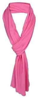 TigerTie Schal in rosa pink uni einfarbig - Schalgröße 180 x 40 cm