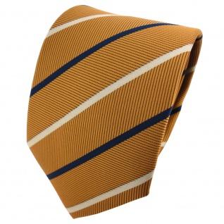 TigerTie Designer Krawatte braungold schwarzblau grau gestreift - Tie Binder