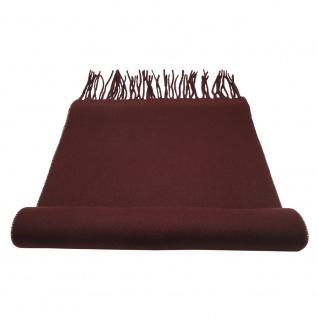 TigerTie Schal in rot braun bordeaux Uni 100 % Polyacryl / Cashmink 30cm x 180cm
